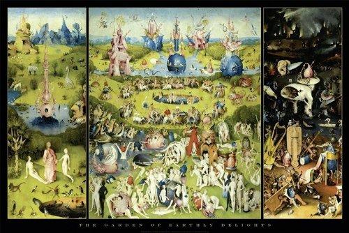 Pster-Garden-Of-Earthly-DelightsEl-jardn-de-las-delicias-Hieronymus-Bosch-915cm-x-61cm-1-Pster-con-motivo-de-paraiso-playero