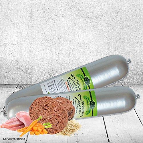 """DOGREFORM Fleischwurst """"Geflügel und Reis und Karotten Diese Hundewurst hat Premiumqualität mit 91% Fleisch Eine Wurst für den ausgewachsenen Hund Nassfutter Hund"""