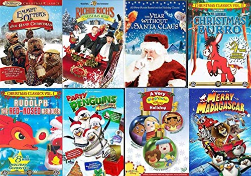 Christmas Kids Favorites Classic 8-Film Collection - Emmett Otter's Jug-Band Christmas/ Party with the Penguins/ The Year Without a Santa Claus/ A Very Playhouse Disney Holiday/ The Snow Queen/ The Li