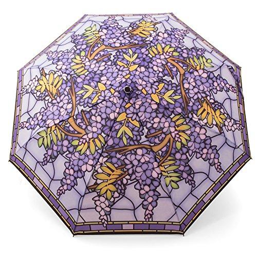 k Taschenschirm Motiv Tiffany Blauregen Glyzine - Taschenschirm mit Auf-Zu Automatik - Rosemarie Schulz GmbH Heidelberg (Einzigartige Weihnachten Deko-ideen)