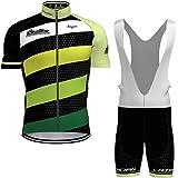 bib shorts cycling men, with 9D Gel Padded Bib Shorts Cycling Combo set