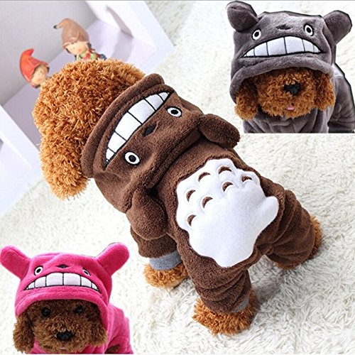 Bazaar yani hp-pc1Für Haustiere, Hunde, Katzen, Kostüm, weiche warme Kleidung Cartoon Totoro Hoodie mit vier-Jumpsuit