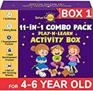 SmartoKids Activity Box for 4, 5 & 6 Year Old Baby Boys & Girls (11-in-1 Set) – Learning & Educati