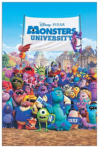 Monsters University (Paneele 60x90 (Aus University Monsters Kunst)