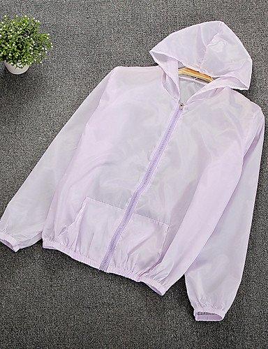 zhENfu Donna informale/GIORNALIERA ESTATE semplice mantello/Capes, solido Hooded Manica Lunga di poliestere regolare,One-Size,Arrossendo rosa Lavender
