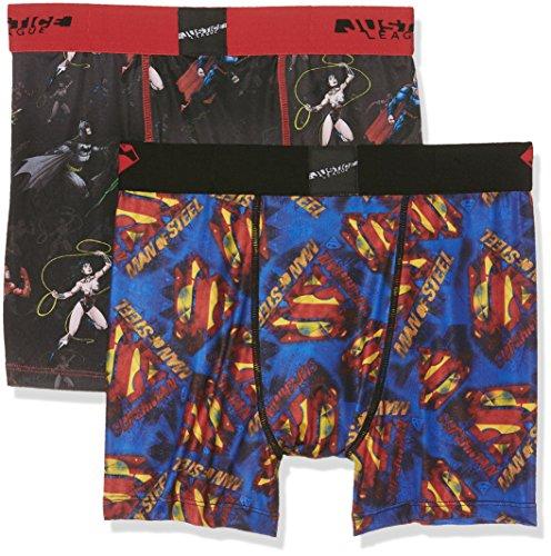 Freegun Justice League Herren Boxershorts Mehrfarbig (Multicolor A11)