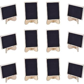 Tischaufsteller Kreidetafel für Reservierung Tischnummer Tischinfo 21x8 cm Holz