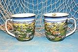 Hösti - Maritimer Becher Kaffeebecher aus Porzellan