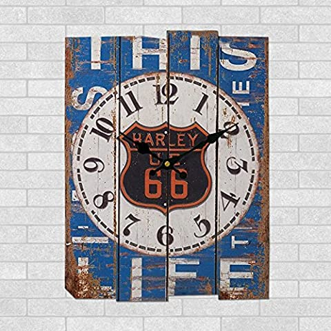 yxhflo Ufficio continentale orologio da parete orologio