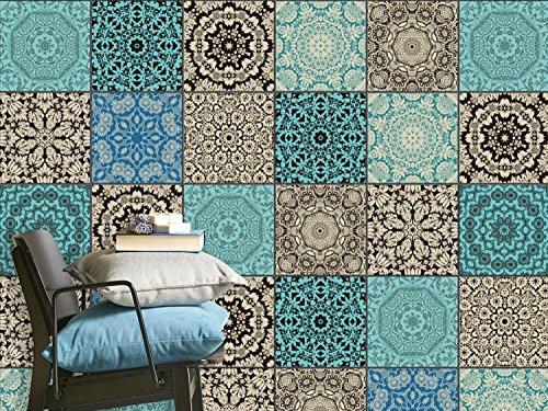 Adesivi piastrelle mosaico foglio di plastica in pvc auto adesivo per piastrelle cucina - Piastrelle di plastica ...