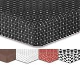 decoking Premium lenzuolo con angoli Steg 30cm lenzuolo lenzuola in microfibra garnituren Black White Hypnosis Collection, Microfibra, Mystery2, 90x200