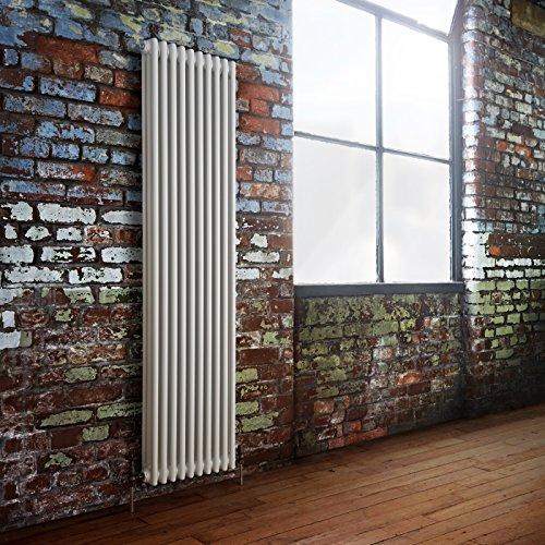 Hudson Reed 'Windsor' Radiatore Termoarredo Tubolare Design Tradizionale Bianco  1800 x 473mm   2687 Watt   Termosifone Stile Ghisa   10 x 3 Colonne   Riscaldamento ad Acqua   Finitura Satinata