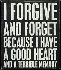 Primitives by Kathy Box Sign, 8-Inch by 7-Inch, Forgive by Primitives By Kathy