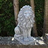 Herrlicher Löwe Blickrichtung rechts aus Steinguss, frostfest