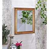 Art Street Royal Decorative Wall Mirror/Looking Glass Gold Color Inner Size 16 X 20 Inch, Outer Size 20 X 24 Inch