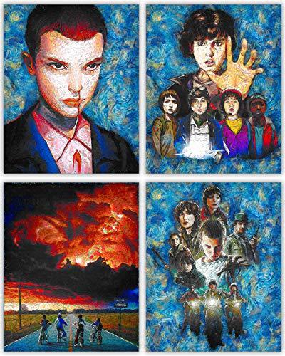 Stranger Things-Deluxe Poster Collection-011, Dustin, Mike, Lucas, werden-gerade aus Hawkins-Ihre Zeichen von der Netflix TV zeigen, in unserer Kunst Drucken Serie-Set von 48x 10Fotos (8x11 Druck-foto-papier)