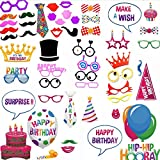Photo Booth props Birthday- 37 pcs