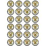 24x diseño de Harry Potter Hogwarts Logo comestible cupcake caketoppers
