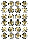 24x HARRY POTTER HOGWARTS Logo Essbar Cupcake caketoppers