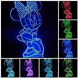 3D illusion lampe LED Nachtlicht Lampe Art Deco Cute 7 Farbe Touch Schalter LED Nachtlichter USB Kabel Kinder Beleuchtung für Baby Schlafen Nachtlichter