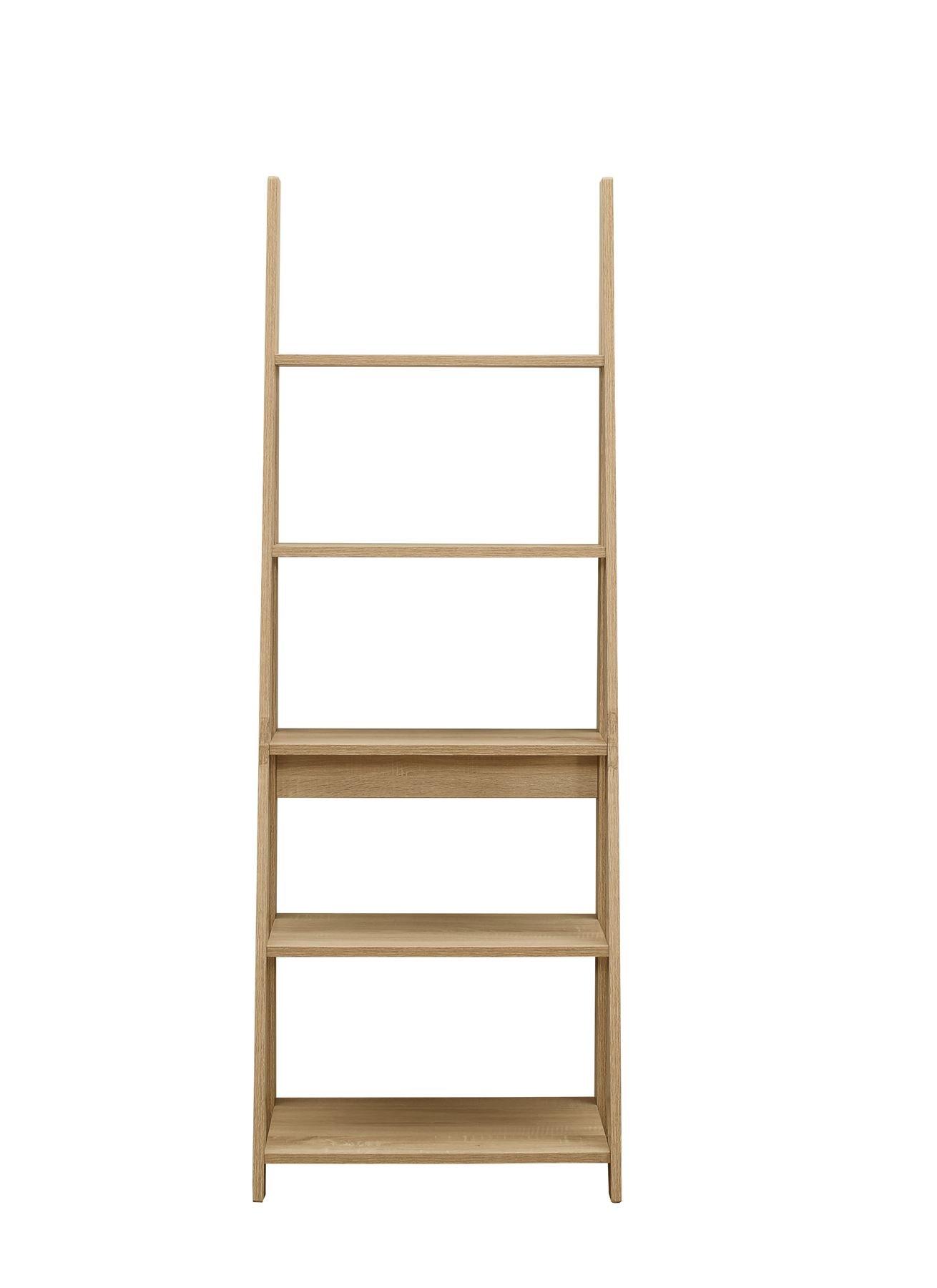 61DSEl9031L - Birlea, Dayton, Ladder Bookcase, Wood, Oak, One Size