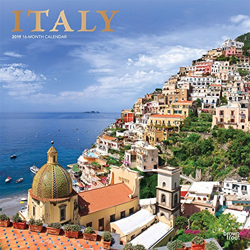 Italy - Italien 2019 - 18-Monatskalender mit freier TravelDays-App: Original BrownTrout-Kalender por Inc Browntrout Publishers
