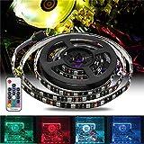 DADEQISH 1.5M 2M Étanche 15Pin SATA Magnétique RGB LED Bande Lumineuse + 17Keys Télécommande pour PC Case DC12V Bande de LED (Color : 2M)