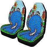 Dos gatos en cómodas butacas, fundas para asientos delanteros, juego de 2, fundas para asientos de automóviles, asientos delanteros solo con ajuste universal
