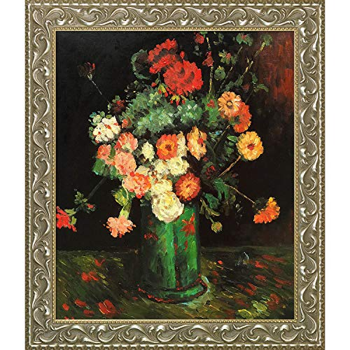 La Pastiche Vase Rococo, antiker Bilderrahmen 29.5' x 25.5' merhfarbig