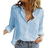 Angel ZYJ Camicia Donna Elegante Manica Lunga Primavera Estive Bottoni Chiffon Bluse Elegantei Casual Stampa Taglie Forti Top