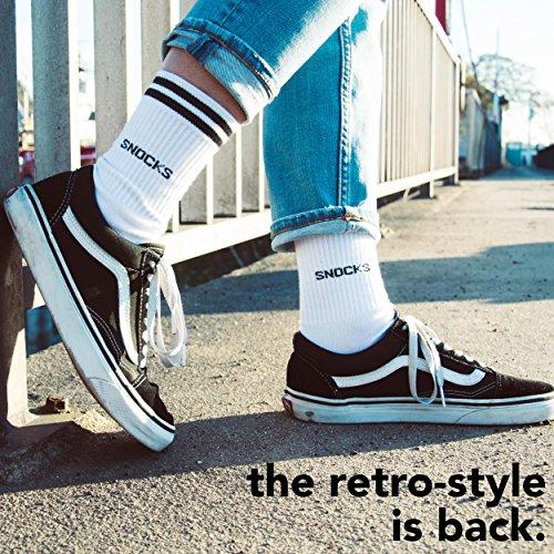 Snocks Retro Socks Children Size 3-5 Grey UK 3 4 5 Sports Socks Childrens Sport Crew Children  s Anti Blister Socks Tennis Socks Golf Basketball Socks Cycling Cricket Socks Gym Running Football Sneaker