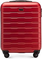 Stabiler Koffer-Trolley Handgepäck von WITTCHEN ABS 54 x 39 x 23 cm 2.8 kg 38 L Schwarz   Bordgepäck Bordcase