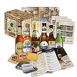 Bier Spezialitäten aus Deutschland (Die besten deutschen Biere) als Probierpaket zum verschenken in Geschenkverpackung (Bier + Tasting-Anleitung + Bierbroschüre + Brauereigeschenke + Geschenkkarton) 6 x 0,33l
