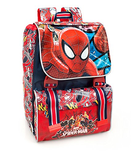 Marvel Spiderman 40212 Zaino da Scuola, Estensibile, Poliestere, Multicolore