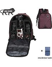Brain Freezer J DSLR/SLR Camera Lens Nylon Polyester Shoulder Backpack Case for Canon Nikon Sigma Olympus Camera (Dark Purple)