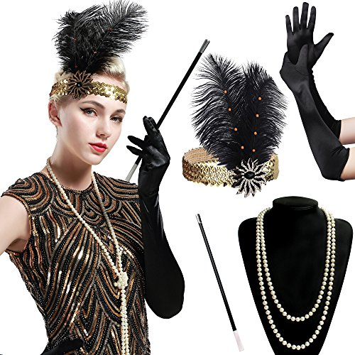 BABEYOND 1920s Flapper Set Damen...