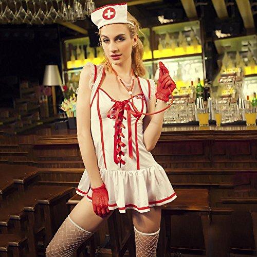 Nurse uniform Myhope Damen Damen Krankenhaus Krankenschwester Kostüm Outfit ()