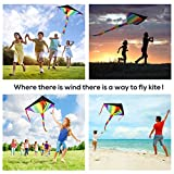 Huge Colorful Kite for Kids and Adults | Have Fun to Fly Rainbow Kites this Summer from Satu Brown | Best Toy for Outdoor Games Family Activities | Enhance Connection with Children | Ideal Gift | 262ft Flying String | 100% Infinity Guarantee