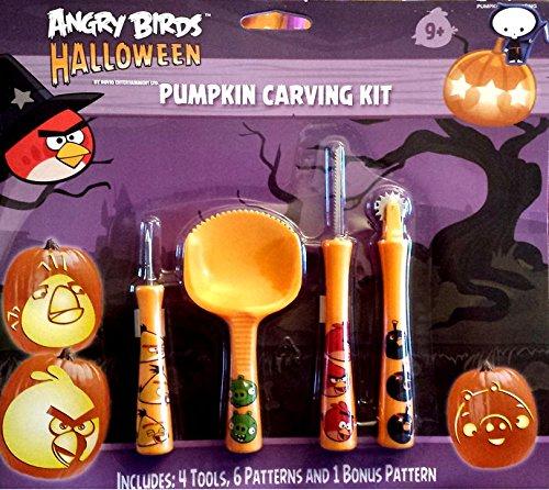 Halloween Kürbis Schnitzset Pumkin Carving Kit (Angry Birds Kürbis)