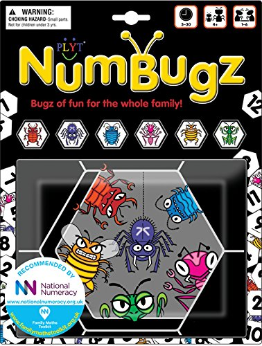 NumBugz - 7 family games - including numbers, strategy, memory, maths, educational and quick fun games in the Bugz travel bag