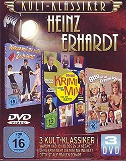 Kultklassiker mit Heinz Erhardt (3DVDs: Ohne Krimi geht die Mimi nie ins Bett, Otto ist auf Frauen scharf, Warum hab' ich bloß