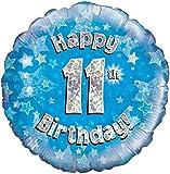 Blau Alter 11 Runde Folienballon (nicht aufgeblasenen)