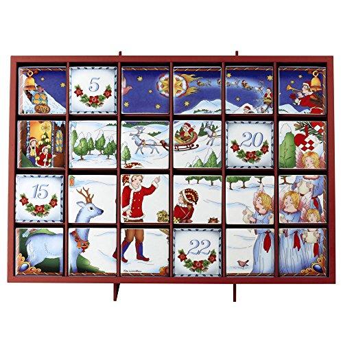 Hutschenreuther 02264-725594-27550 Adventskalender aus Porzellan 47 x 33,5 cm, limitiert auf 999 Stück