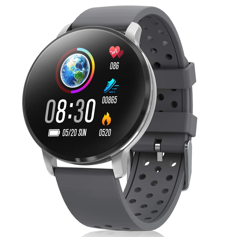 CatShin Smartwatch, Reloj Inteligente para hombre mujer, IP68 Impermeable reloj de fitness con Podómetro Pulsómetros… 1