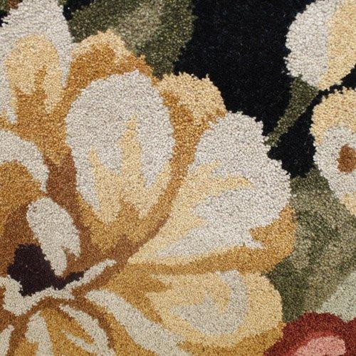 Flair Rugs Elegance Faith Wool Hand Tufted Rug, Black, 80 x 150 Cm