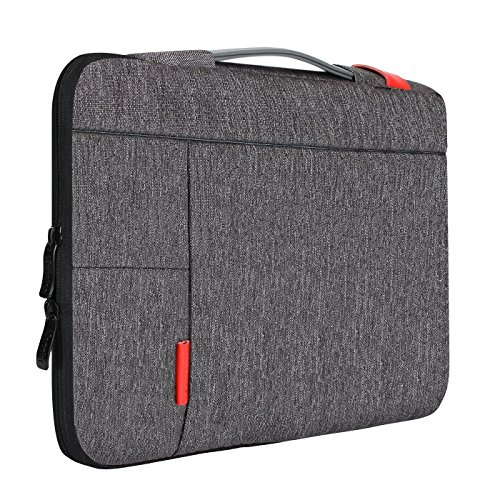 iCozzier 11,6 Zoll Laptoptasche mit Griff Tragbare Laptoptasche Sleeve Hülle Schutztasche für MacBook Air/MacBook Pro/Pro Retina Sleeve - Dunkelgrau