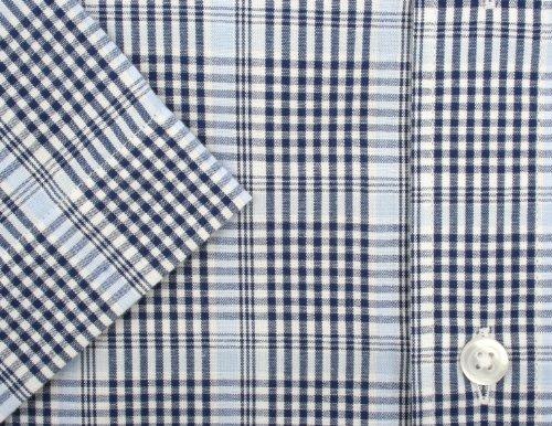 Ex-Store -  Camicia classiche  - Uomo Navy Blue, Sky Blue & White