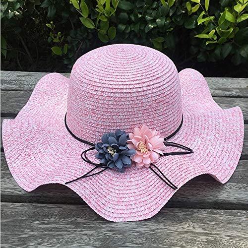 Paare Bollywood Kostüm - zlhcich Schattenblumenstrohhut-Sonnenschutzsonnenhut-Sommerstrandhut der Sommerdame kühler Hut im Freien