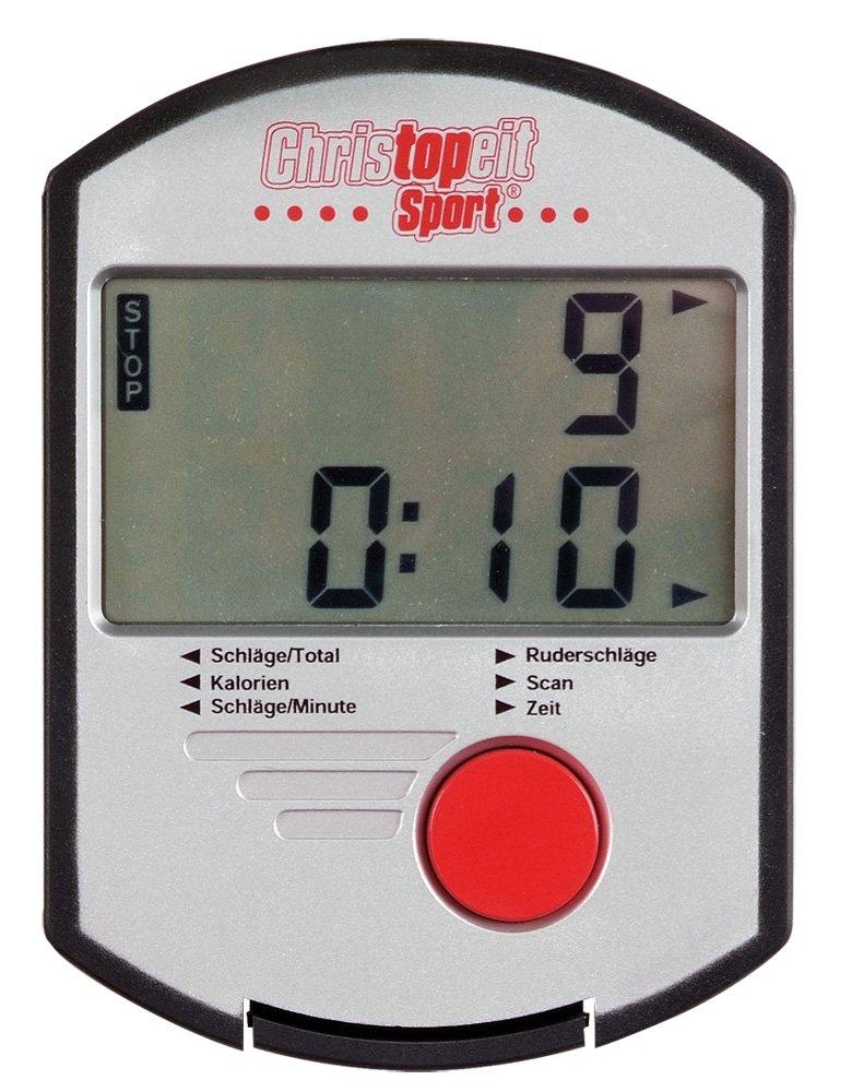 61DTCL8sflL - Christopeit Sport Unisex's Lugano Rower, Silver/red/Black, Medium