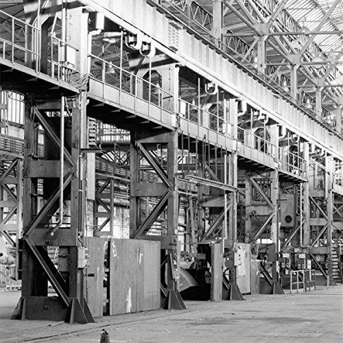Wadeco Industrial Fototapete Wandsticker Wandaufkleber L = 300 cm x 250 cm 200gr. Vlies